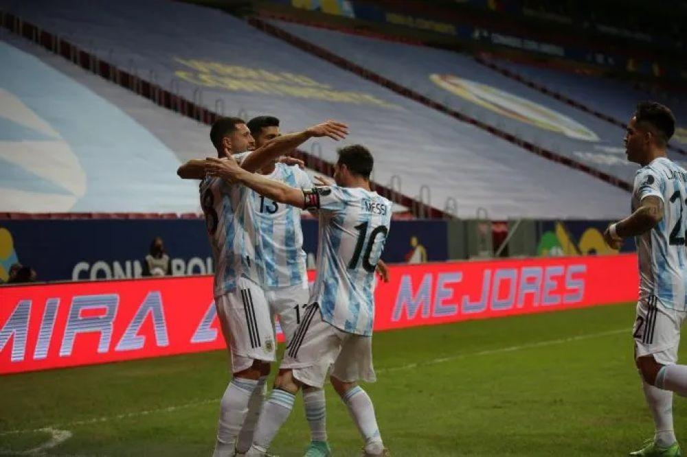 Argentina se quedó con el clásico ante Uruguay por la Copa América