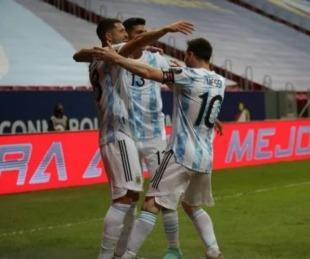 foto: Argentina se quedó con el clásico ante Uruguay por la Copa América