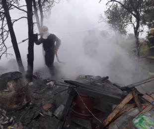 foto: Quiso prepararse unos mates y se le prendió fuego la casa