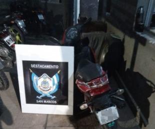 foto: Recuperaron una motocicleta que fue robada en el B° Santa María