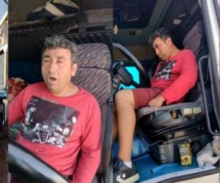 foto: Peligro: así encontraron en Santa Fe al chofer de una empresa chilena