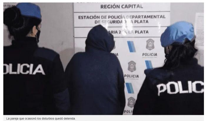 Tensión en un hospital: una pareja enfrentó a la policía con un cuchillo