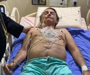 foto: Bolsonaro desde el sanatorio
