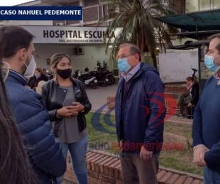 foto: Tassano visitó a la familia de Nahuel Pedemonte y brindó asistencia