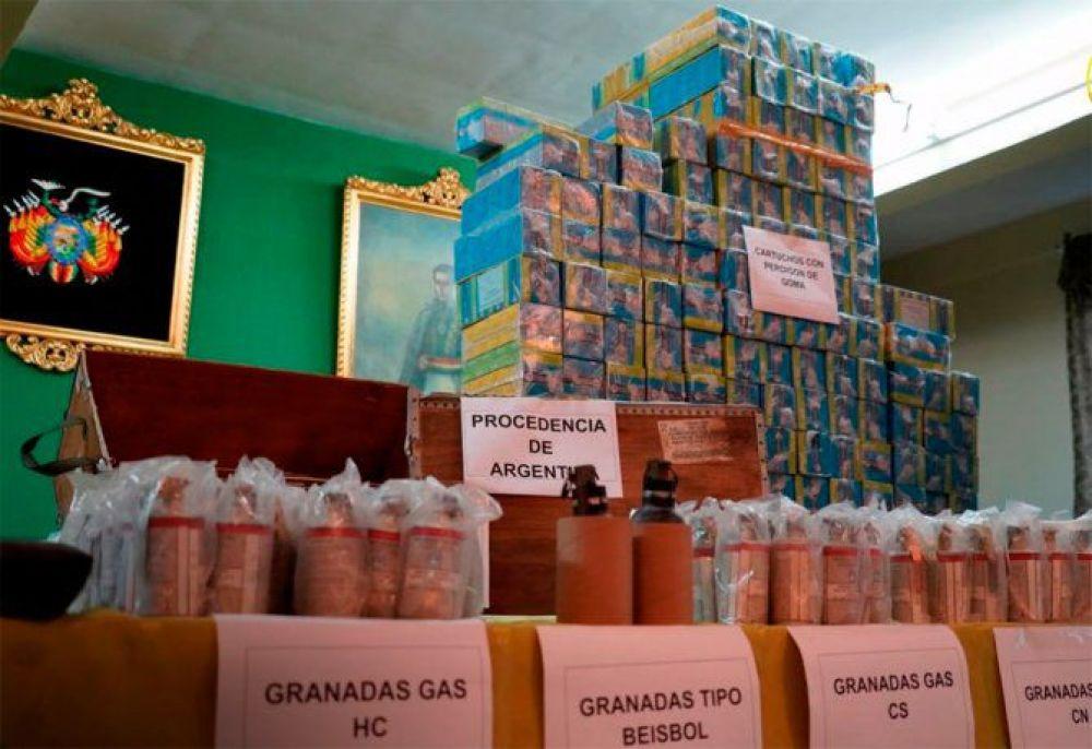 Bolivia mostró las armas que Macri mandó a los que derrocaron a Evo Morales