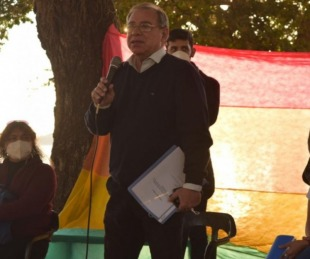 foto: Eduardo Tassano se reunió con personas del Colectivo LGBT