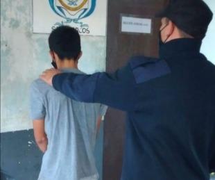 foto: Joven fue detenido tras robar las herramientas de un albañil