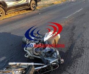 foto: Motociclista murió tras colisionar con una camioneta en Goya