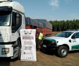 foto: Incautaron 196 toneladas de soja trasladadas en siete camiones