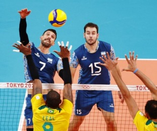 foto: El voley argentino estuvo cerca del batacazo, pero Brasil ganó