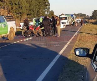 foto: Motociclistas murieron en violento choque: uno era cabo del Ejército
