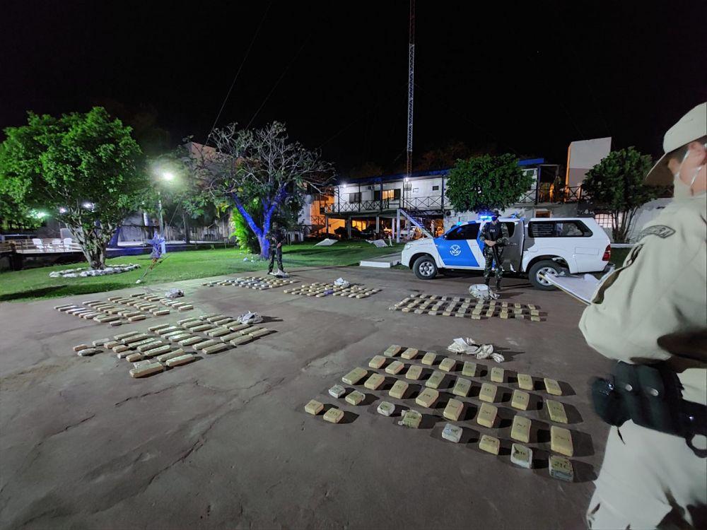 Incautaron más de 150 kilos de marihuana en Paso de la Patria