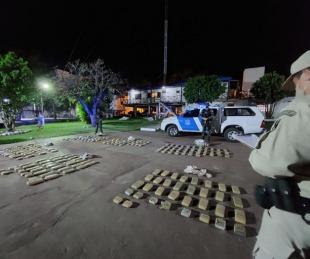 foto: Incautaron más de 150 kilos de marihuana en Paso de la Patria