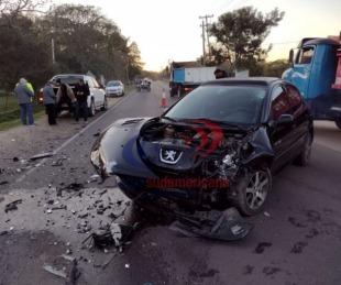foto: Fue un milagro: violento choque en zona de Santa Ana dejó un herido