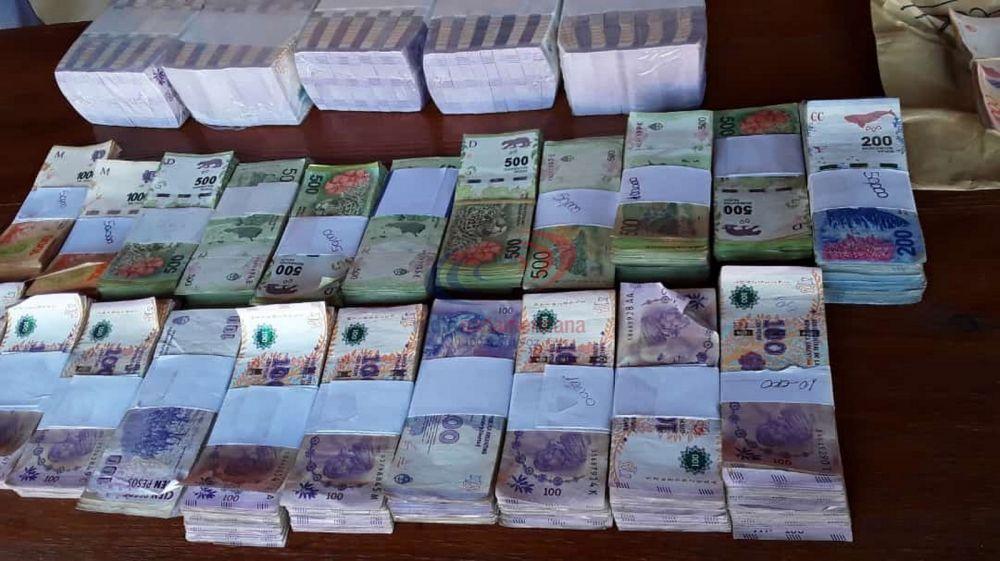 Tras allanamientos secuestraron más de $1.000.000 en Saladas