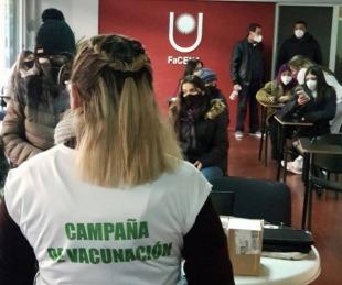 foto: Continúa la vacunación para estudiantes y docentes de la UNNE
