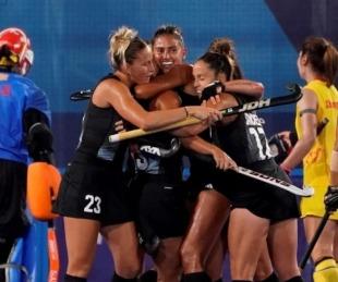 foto: Las Leonas: gran victoria ante China y pase a cuartos