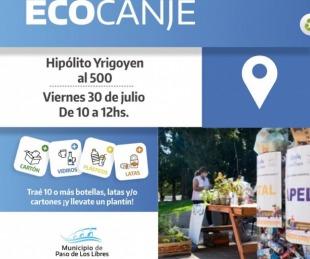 foto: Libres realizará un nueva jornada de Ecocanje en Yrigoyen al 500