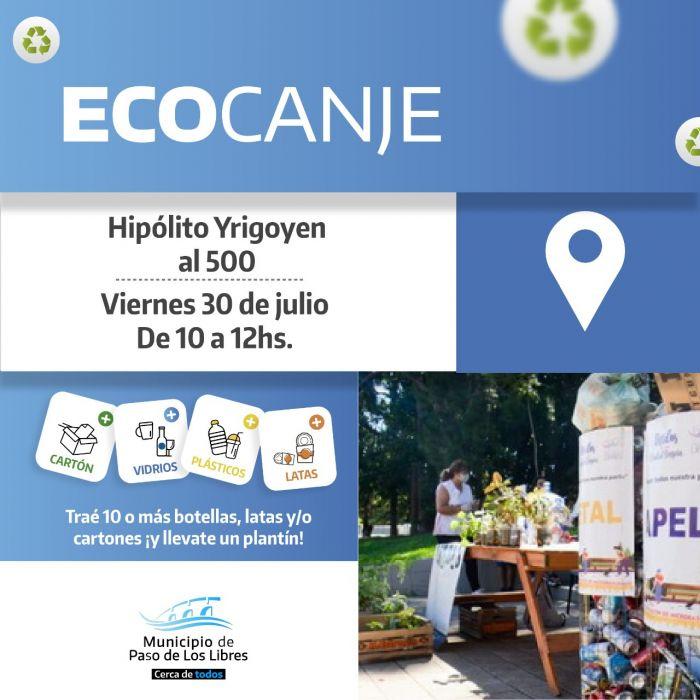 Libres realizará un nueva jornada de Ecocanje en Yrigoyen al 500