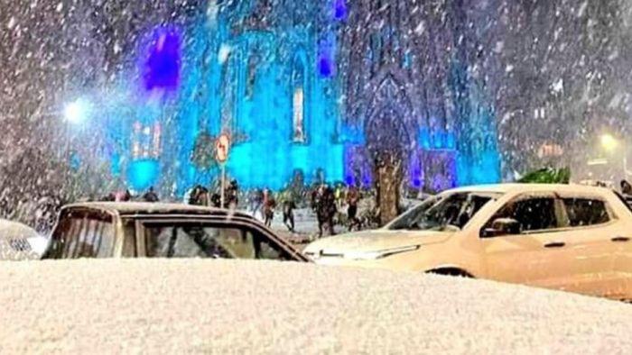Brasil vivió una nevada histórica en el sur del país