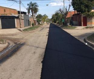 foto: Avanzan las obras de pavimento caliente en el B° Juan de Vera