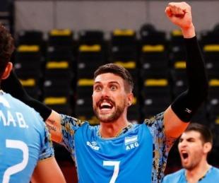 foto: La selección argentina de vóley tuvo una gran reacción ante Túnez
