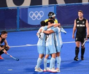 foto: Los Leones se ilusionan: golearon y se metieron en cuartos de los JJOO