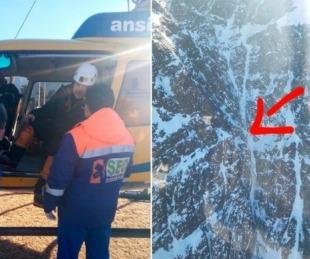 foto: Mendoza: rescatan a andinistas que estuvieron dos días desaparecidos
