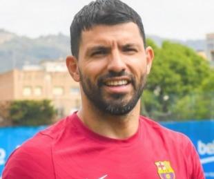 foto: Agüero tuvo su primer día en el Barcelona: