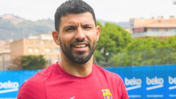 Agüero tuvo su primer día en el Barcelona: Estoy muy contento
