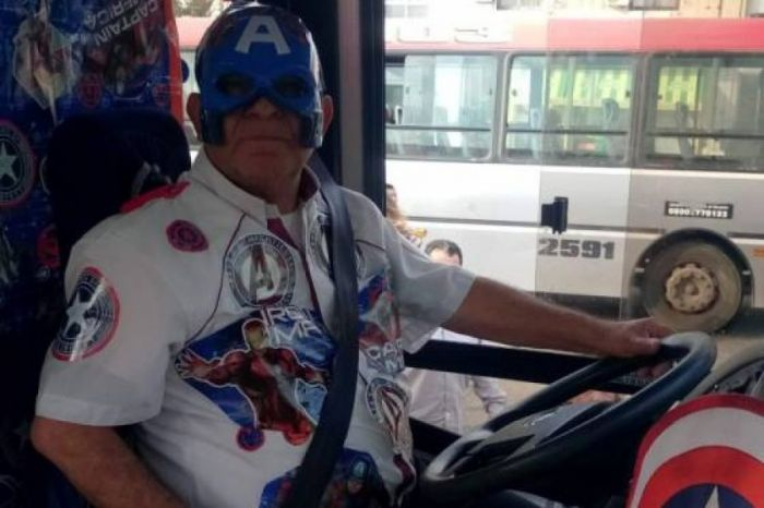 Falleció el chofer que se vestía de superhéroe para alegrar a los niños