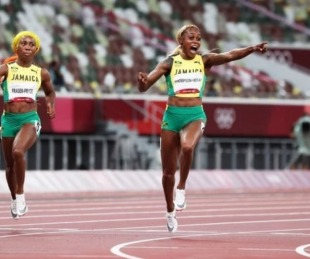foto: Tokio 2020: Elaine Thompson-Herah ganó el oro en 100 metros llanos