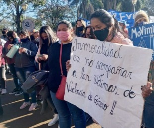 foto: Violencia: joven misionera que escapó de su pareja en Paraguay