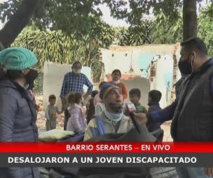 foto: Barrio Serantes: Habló el joven discapacitado que fue desalojado