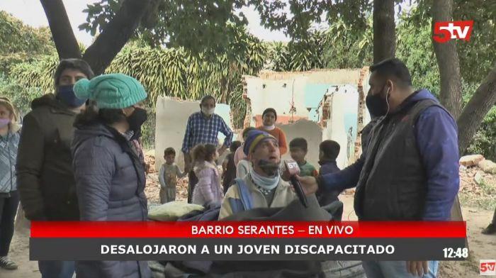 Barrio Serantes: Habló el joven discapacitado que fue desalojado