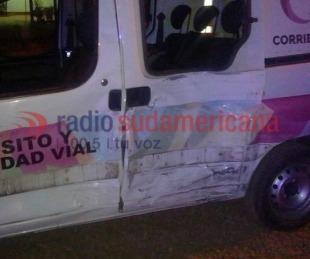 foto: Tras persecución, alcoholizados chocaron contra móvil de Tránsito
