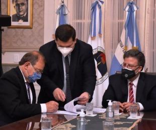foto: Agilización de notificaciones: Tassano, con el presidente del STJ