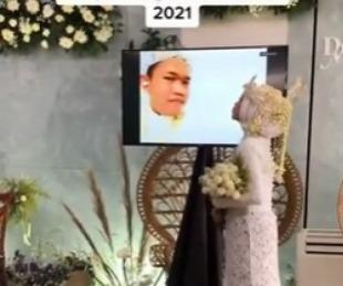 foto: Se contagió de coronavirus antes de casarse e hicieron la ceremonia sin él