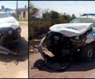 foto: Chaco: Dos patrulleros de la policía chocaron y quedaron destruidos