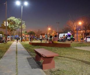 foto: Barrio Cacique Canindeyú: Tassano y Lanari inauguraron una nueva plaza