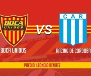 foto: Boca Unidos recibe a Racing de Córdoba y lo vivís por Sudamericana y 5TV
