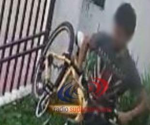 foto: Video: Así robaron una bicicleta en plena siesta, tras forzar un portón