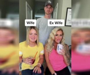 foto: Tiene una relación con su esposa, su ex y la pareja de su ex y se hizo viral