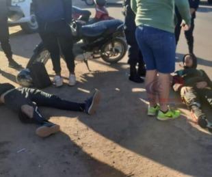 foto: Jugadores de la reserva de Boca Unidos chocaron sobre Ruta 5