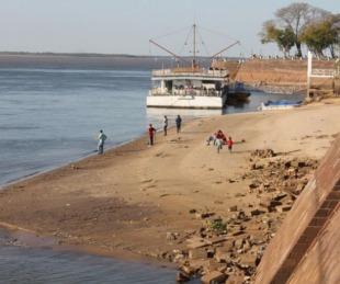 foto: Sigue bajando el caudal de agua de los ríos Paraná y Uruguay