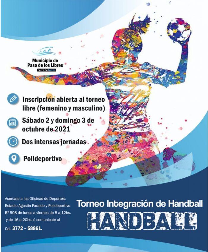 Libres abrió las inscripciones para el Torneo Integración de Handball
