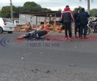 foto: Aspirante a penitenciaria en moto chocó contra un caballo en Ruta 12