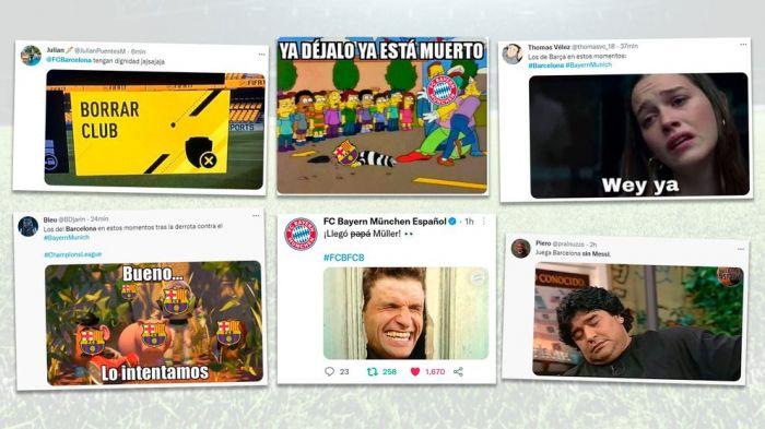Los memes de la derrota del Barcelona: la ausencia de Messi