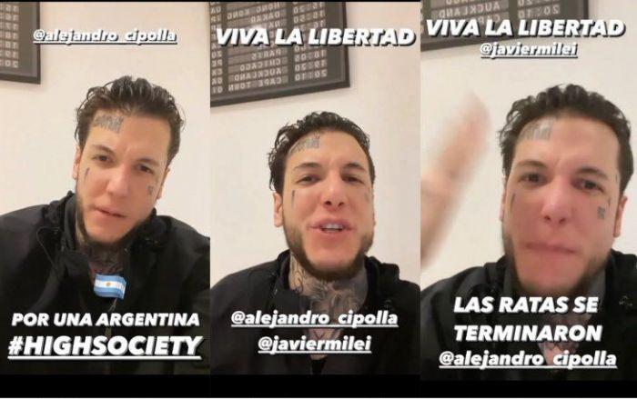 Alex Caniggia abandona el espectáculo para lanzarse a la política