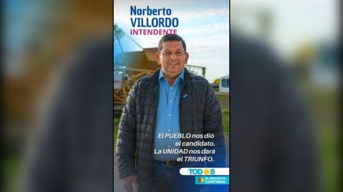 Norby Villordo es el candidato del FdT en Santa Lucía